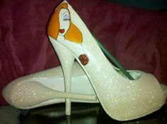Jessica Rabbit not of jessica but i like the picture on the heel maybe of an actual rabbit, wolf or fox