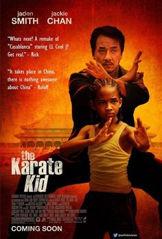 TIL The 2010 remake of Karate Kid does not feature karate which is from Okinawa (Japan) but focuses on the main character learning kung fu in China. Jackie Chan believed the film would only be called The Karate Kid in America and The Kung Fu Kid in China Karate Kid 2010, The Karate Kid, Karate Kid Movie, Karate Kid Jackie Chan, Karate Karate, Kid Movies, Family Movies, Great Movies, Movie Tv