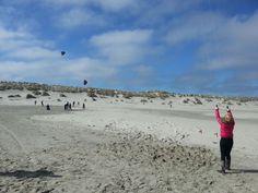 Powerkiten op het noordzee strand www.schoolreisnaarterschelling.nl