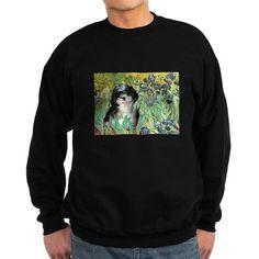Irises / Shih Tzu #12 Sweatshirt (dark)