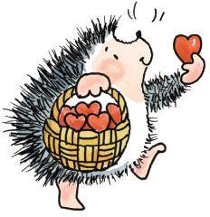 Un coeur à donner - IGEL HEDGEHOG Natürlich sowie witzig Illustration Cartoon Gifs - Éducation Hedgehog Art, Hedgehog Drawing, Cute Hedgehog, Penny Black Karten, Penny Black Cards, Hedgehog Illustration, Cute Illustration, Rock Crafts, Digi Stamps