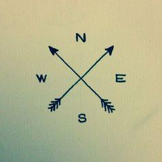 simple arrow compass tattoo - Google Search Elyssia