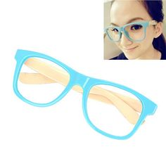 Fresh With Blue Frame Fashion Pentagram Design Plastic #Sunglasses  www.asujewelry.com