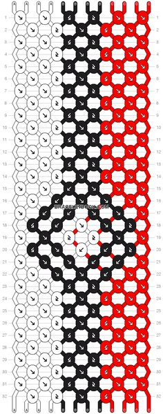 friendship bracelet patterns | Patterns - Normal - Friendship Bracelet Pattern #8067
