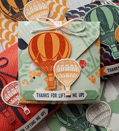 Stampin' Up! Demonstrator stampwithpeg : Theme Thursday – Lift me up, Envelope punch board favour.