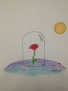 The Rose From 'The Little Prince' by TinyNerdGirl Little Prince Quotes Rose, Little Prince Tattoo, Little Prince Party, The Little Prince, Prince Drawing, Prince Tattoos, Rose Sketch, Aesthetic Roses, Rose Illustration