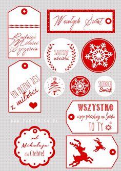 Etykietki do prezentów świątecznych - partymika