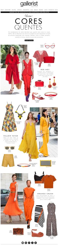 fashion news, newsletter, marketing, moda, layout, cores, pantone, gallerist blog & shop