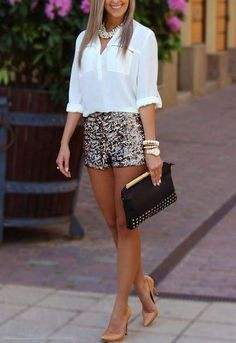 Summer Style Long Sleeve White Shirt And Short For ... | Fashion I Li…