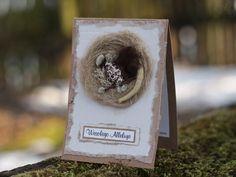 Handmade Easter card with bird nest Easter Card, Bird Feeders, Nest, Decorations, Outdoor Decor, Cards, Handmade, Home Decor, Nest Box