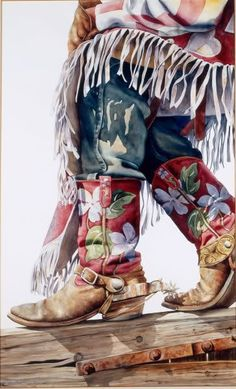 Red White and Blue: Cowboy by Nelson Boren Cowboy Art, Cowboy And Cowgirl, Cowgirl Style, Cowgirl Boots, Gypsy Cowgirl, Moda Country, Country Art, Country Girls, Cow Girl