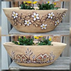 Doppelseitiger Boxspring, Sommer / Winter - sofort / Lavendelware, You are in the right place about Gardening Supplies diy Here we offer you the m Pottery Plates, Pottery Mugs, Ceramic Pottery, Pottery Art, Ceramic Art, Ceramics Projects, Clay Projects, Clay Crafts, Concrete Crafts