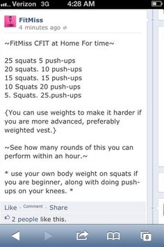 Crossfit workout at home, maybe 20-30 min, not an hour.. :)