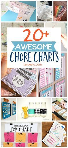 Tons of awesome chore charts to find the one that will work for you and your family!!  Lots of FREE Printables and DIY Tutorials!