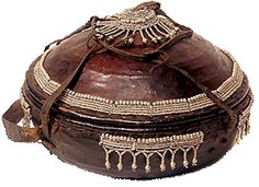 I brought one just like this back from Ethiopia.  It is lined with mud... perhaps to keep it airtight?... and used to store INJERA, a large flat sour pancake type of Ethiopian food made out of a grain called Teff.