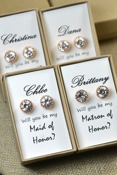 Bridal sets, Bridesmaid gifts and Earrings on Pinterest