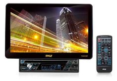 "Pyle PLD101BT Single DIN DVD Receiver 10.1"" TFT LCD USB SD AUX DVD/VCD/MPEG4/MP3/DIVX/CD/CD-RW Compaible Motorized & Full Detachable 13.1 Front Touch Screen Panel With Built-in Bluetooth Technology you can stream audio directly from your hand-held bluetooth enabled device with crystal clear wireless performance(iPhone, Droid, Blackberry, iPads, Tablets, Etc.)Treble/Bass/Balance/Fader/Encoder Volume PLL synthesizer Tuner Auto Store/Preset Scan AM/FM-MPX 2 Band Radio"