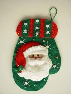 Santa on a mitten