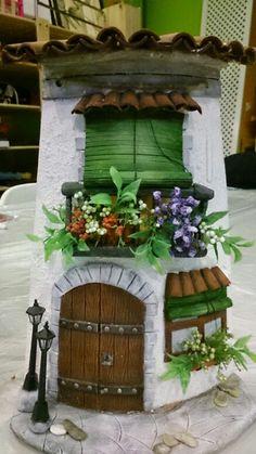 icu ~ Balcón y ventana preciosa - Diy Crafts Slime, Pvc Pipe Crafts, Tile Crafts, Craft Stick Crafts, Clay Crafts, Decor Crafts, Diy And Crafts, Clay Fairy House, Fairy Garden Houses