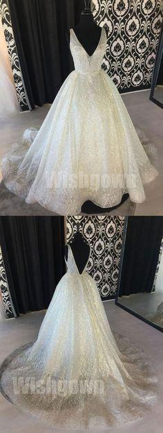 V Neck Unique Affordable V Back Long Evening Prom Dresses, WG1060