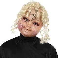 Totally Ghoul Terror Tot With Hair Halloween Mask - Kmart