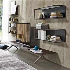 Grado° was designed by Ron Gilad who has been shortlisted for the 2014 Compasso DOro award. A new addition to this collection is the Grado° Bookshelf, a suspended element with a distinctive 45° section, easy to use to create impactful...