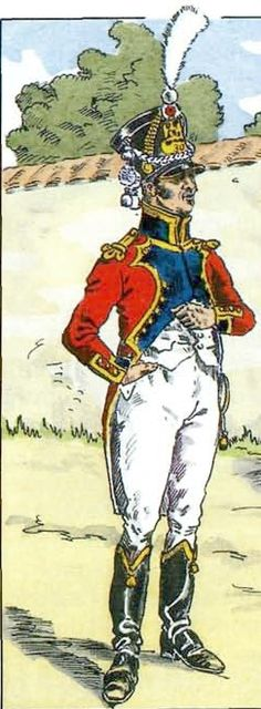 French; 30th Line infantry, Musician 1810 by H.Boisellier. note both Charmy and Leroux show Black facings for the musicians at this time.