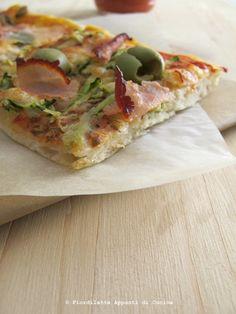 Homemade pizza - Pizza in teglia // Recipe on http://fiordilatte-appuntidicucina.blogspot.it/2013/09/a-volte-ritornano-con-la-pizza-in-teglia.html