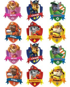 Free Paw Patrol Printables Together With Creative Paw Patrol Party Ideas Pretty My Party A Paw Patrol Free Printable Free Paw Patrol Birthday Party Printables Paw Patrol Badge, Paw Patrol Party, Paw Patrol Birthday, Paw Patrol Names, Paw Patrol Pinata, Paw Patrol Stickers, Paw Patrol Clipart, Paw Patrol Pups, Imprimibles Paw Patrol