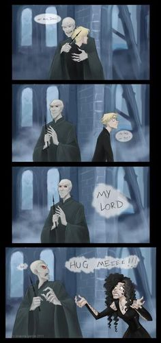 I can't read Draco's reaction, but he looks so funny!