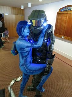 Cortana with master chief bodypillow cosplay by danni