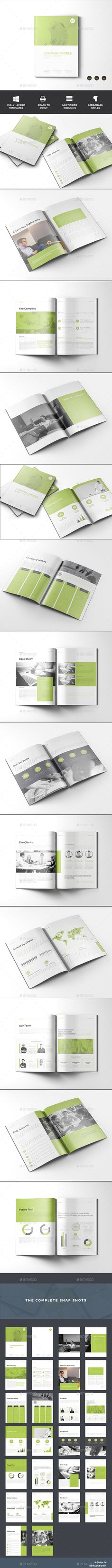 Company Profile Brochure Template InDesign INDD. Download here: https://graphicriver.net/item/company-profile/17493837?ref=ksioks