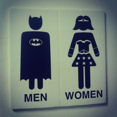 Bathroom signs, with style!