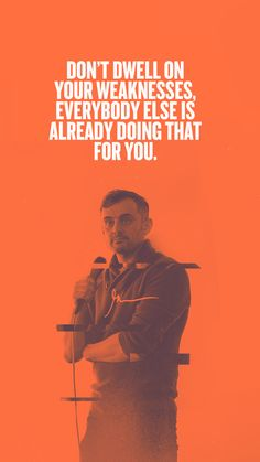 GaryVee WallPapers Don't dwell on your weaknesses! Motivational Wallpaper, Motivational Quotes, Inspirational Quotes, True Quotes, Words Quotes, Best Quotes, Sayings, Entrepreneur Motivation, Motivation Success