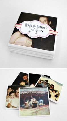 Personalized DIY Coasters | Father's Day Gift Ideas by DIY Ready at http://diyready.com/21-cool-fathers-day-gift-ideas/