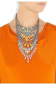 Tom Binns  Fauve Swarovski crystal necklac