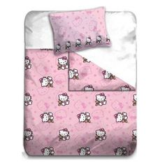 HOUSSE DE COUETTE + taie d oreiller Hello Kitty ref 05