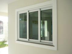 janela correr tres abas Aluminium Windows And Doors, Sliding Windows, Window Grill Design, Window Styles, Room, House, Home Decor, Image, Home Decor Accessories