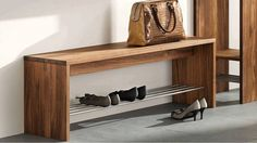 Decoration, Minimalist Modern Room Decoration With Grey Wall Color Interior Design And Brown Wooden Closed Shoe Storage Bench And Marble Floor Ideas ~ Closed Shoe Storage