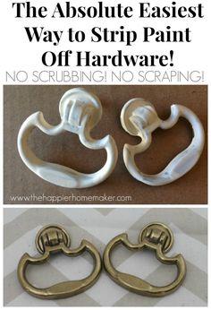 easiest way strip paint off hardware