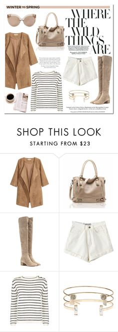 """""""where the wild things are .*"""" by f-ashioninside ❤ liked on Polyvore featuring Gianvito Rossi, Chinti and Parker, Accessorize, Linda Farrow, Spring, Winter, stripes and Wintertospring"""