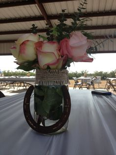 Easy and lovely centerpieces. & Western Quinceañera Centerpiece   15 centerpieces   Pinterest ...