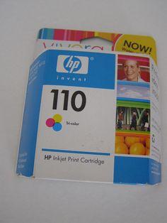 Hewlett Packard #110Color Inkjet Print Cartridge New Sealed in Box Exp 2008 #HP