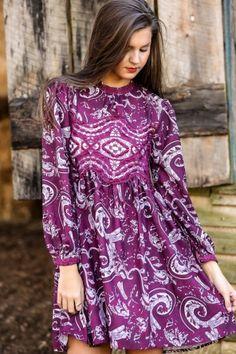 FRINGE: I'm All In Dress-Purple