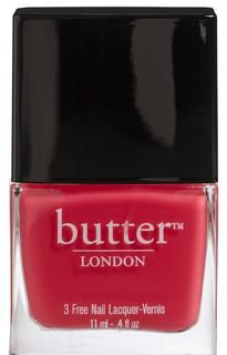 "butter LONDON - Bright Coral Nail Polish – Macbeth ""Out, out, damn neutrals! This pedicure-worthy orange-y-coral lacquer will make you want to do terrible things that won't wash off your hands."""