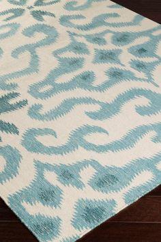 Marseille Wool Area Rug - Teal/Beige on @HauteLook