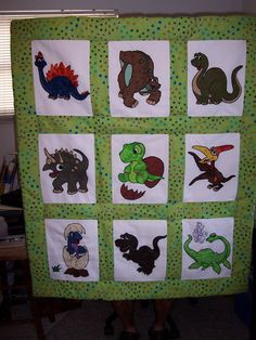 Dinosaur Quilt by QuiltInspirations on Etsy, $425.00