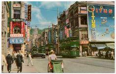 Postcard Des Voeux Road in Hong Kong, China~107492
