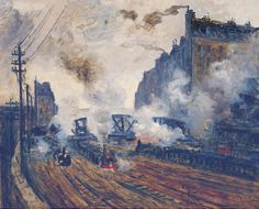 1877 Claude Monet The tracks at Batignolles(Wurth collection)