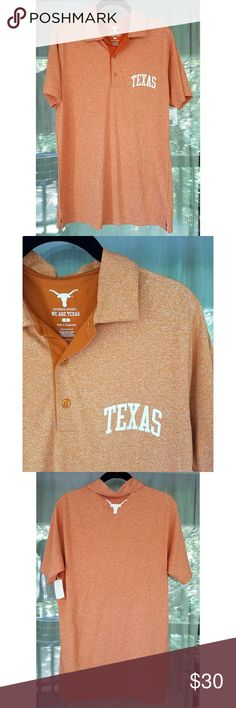 University of Texas polo NWT UT polo with 'Texas' on front chest and longhorn logo on back. Shirts Polos